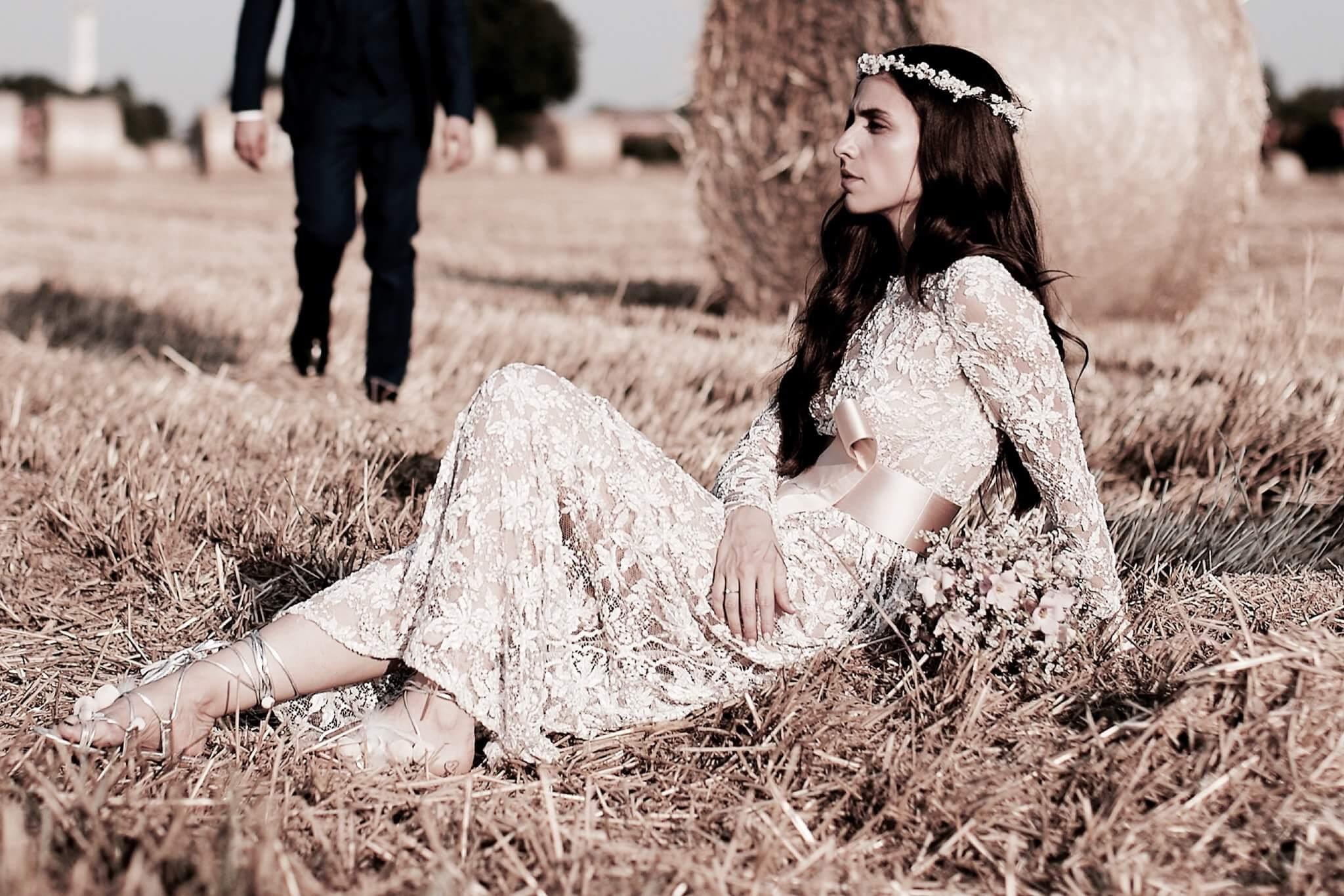 ERIKA BOLDRIN WEARING OUR 'ERIKA' SANDALS AT HER WEDDING