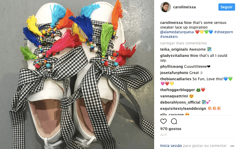 CAROLINE ISSA SHARING ALAMEDA TURQUESA on her instagram