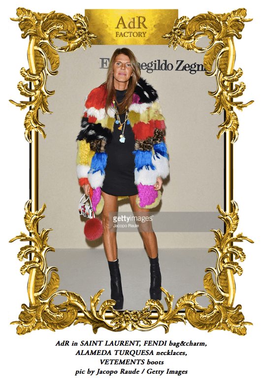 MFW WITH ANNA DELLO RUSSO WEARING OUR NECKLACES