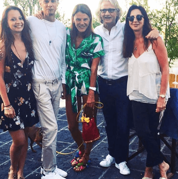 ANNA DELLO RUSSO WEARING OUR 'MATISSE' SANDALS DURING HER SUMMER HOLIDAYS