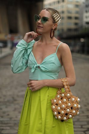 Blair Eadie wearing our 'Hana' bag