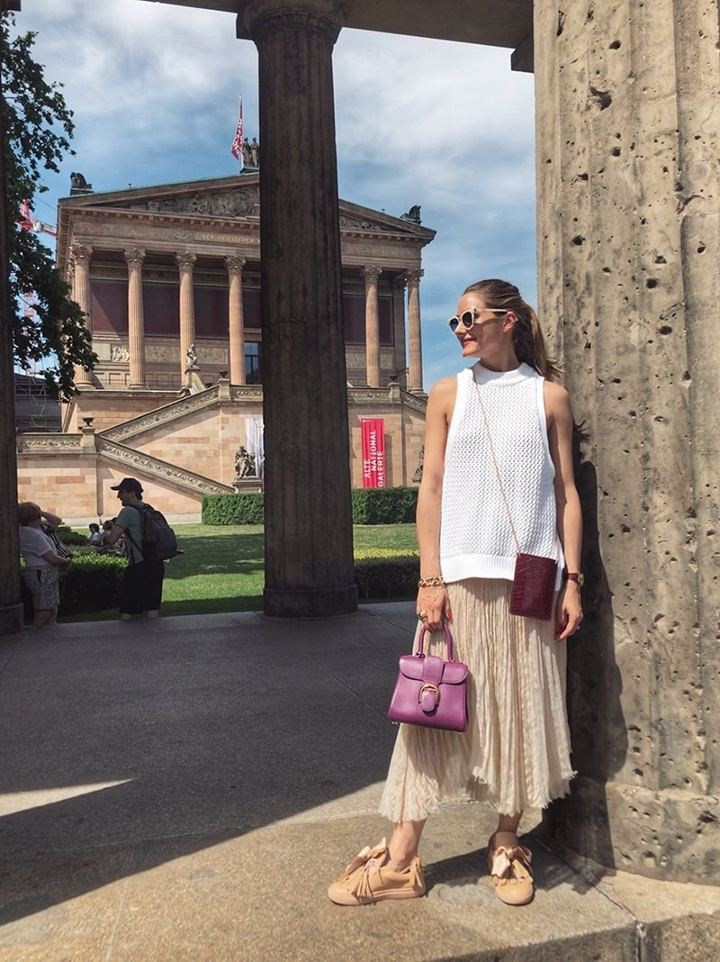 OLIVIA PALERMO WEARING OUR 'THE BLUSH SNEAKERS'