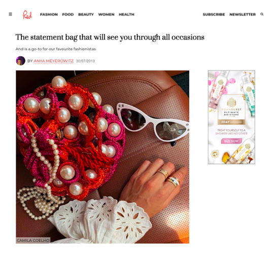 RED MAGAZINE SAYS WE HAVE THE STATEMENT BAG