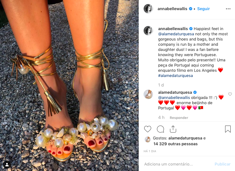 Annabelle Wallis sharing her love for Alameda Turquesa