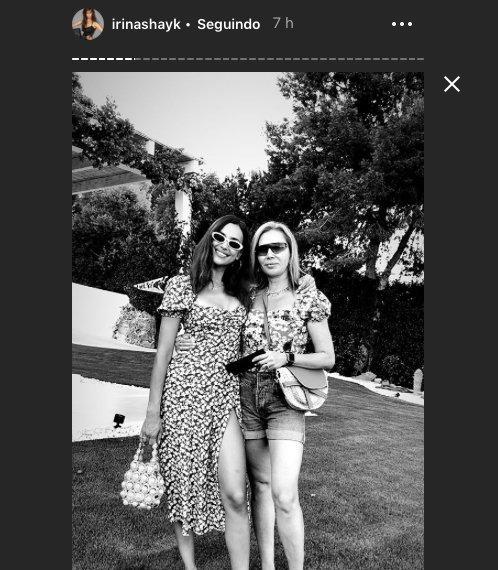 IRINA SHAYK WEARING OUR 'HANA' SIGNATURE BAG