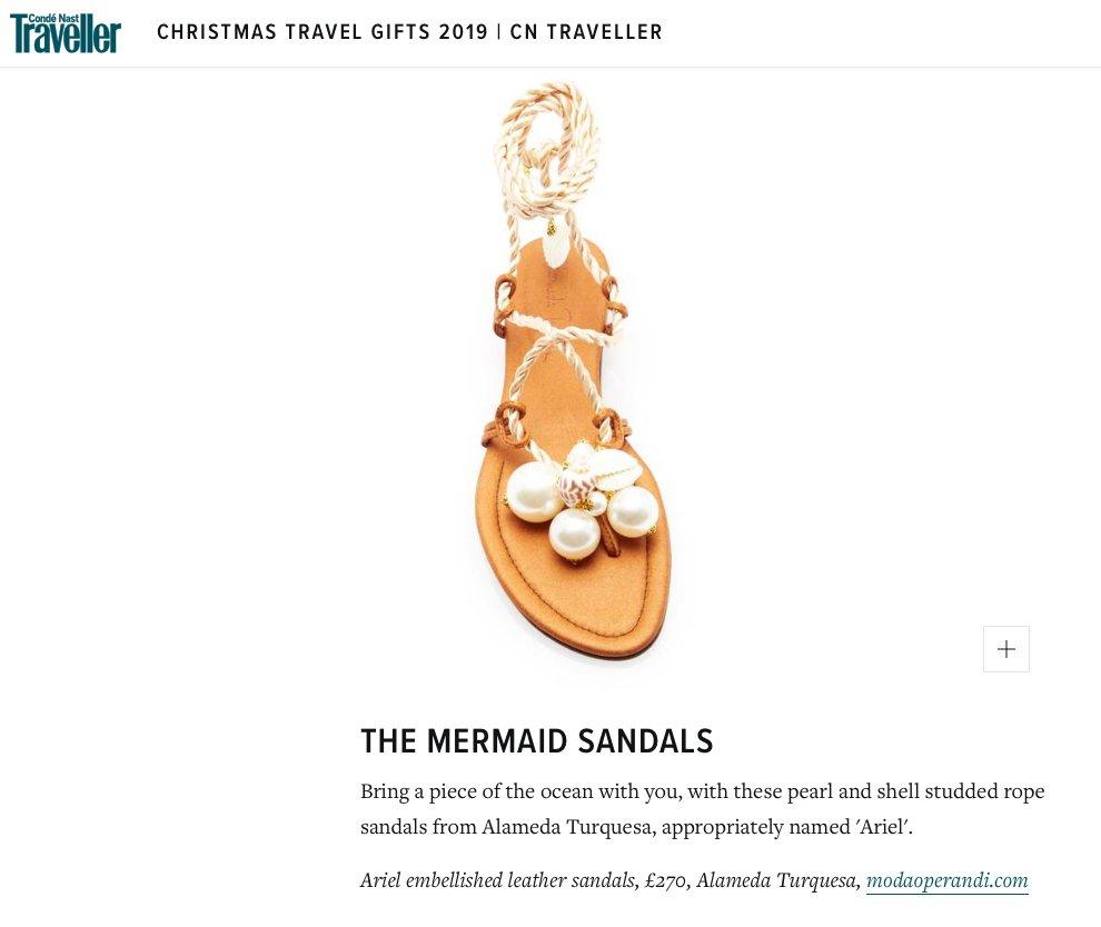 The mermaid sandals at Condé Nast Traveller